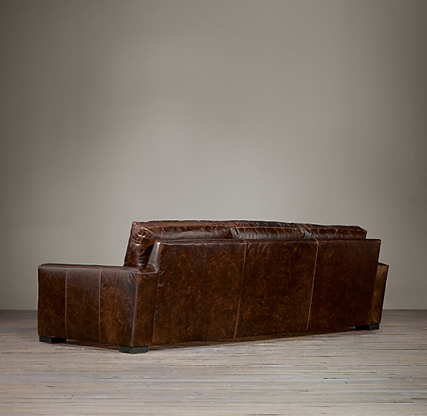 Maxwell Leather Three Cushion Sofas