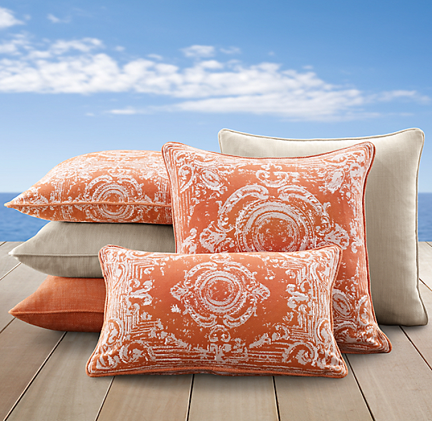 Perennials® Côte d&#39Azur Tile Pillow Cover Collection Clementine