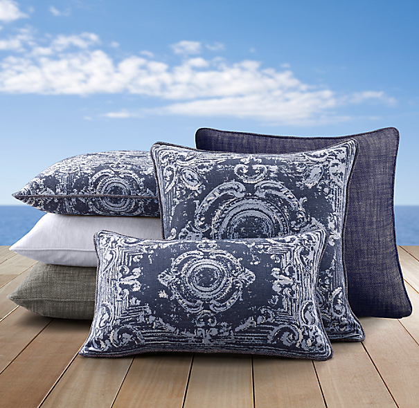 Perennials® Côte d&#39Azur Tile Pillow Cover Collection Navy