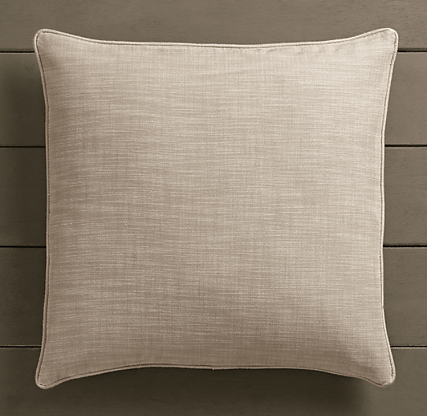 Perennials® Côte d&#39Azur Textured Linen Weave Pillow Cover Sand