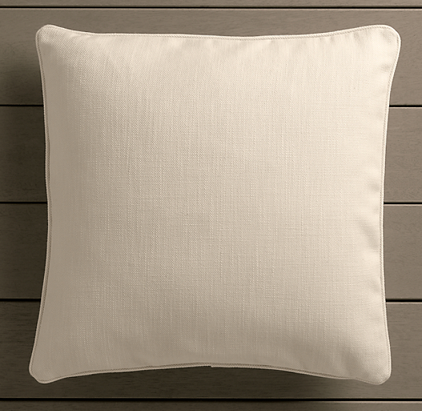 Perennials® Côte d&#39Azur Textured Linen Weave Pillow Cover Natural