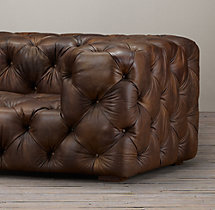 10' Soho Tufted Leather Sofa