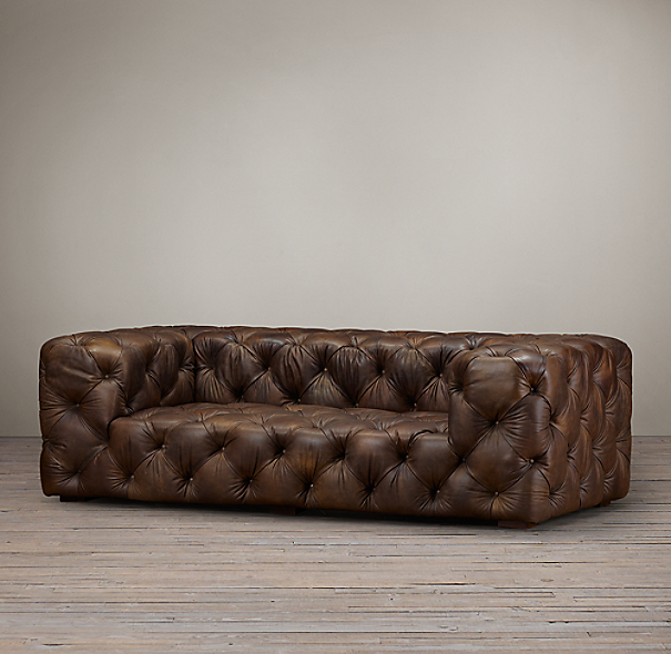 ... Restoration Hardware Furniture Manufacturer : Soho Tufted Leather Sofa  ...