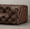 9' Soho Tufted Leather Sofa
