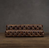 8' Soho Tufted Leather Armless Sofa