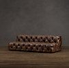 10' Soho Tufted Leather Armless Sofa