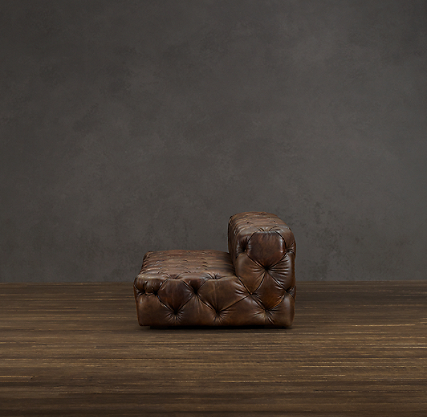 Soho Tufted Leather Armless Sofas