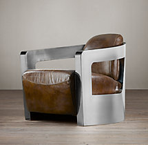 Atlantic Coupe Leather Swivel Chair