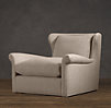 Belgian Wingback Upholstered Swivel Chair