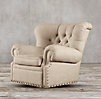 Churchill Upholstered Swivel Chair With Nailheads