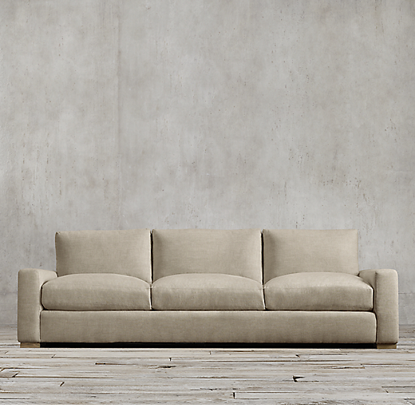 8' Maxwell Upholstered Three-Seat-Cushion Sofa