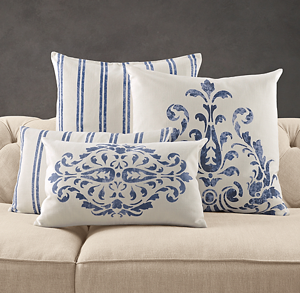 Floral Scroll Pillow Collection