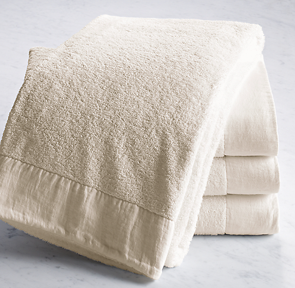 Linen-Bordered 650-Gram Turkish Bath Towel