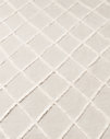 Diamante Flatweave Linen Rug Swatch - Cream/Cream