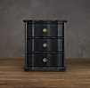 "24"" 18th C. Italian Baroque Wood Closed Nightstand"