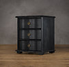 "24"" 18th C. Italian Baroque Wood Closed Nightstand (Set of 2)"