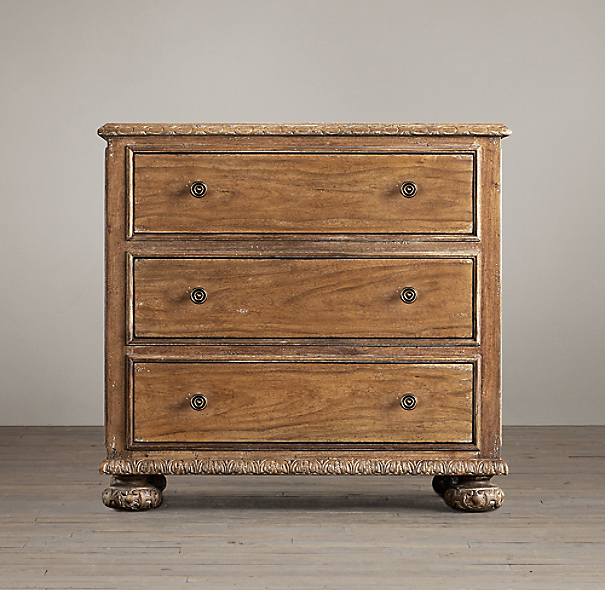 French Empire Closed Nightstand