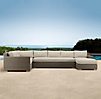 Biscayne Right-Arm Chaise Sectional Cushions