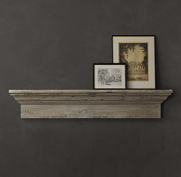 Antiqued Wood Windowsill Ledge