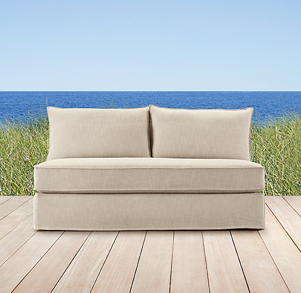 Capri  Armless Sofa