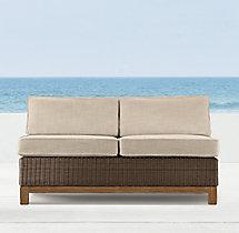 "50"" Malibu Two-Seat Armless Sofa"