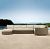 Biscayne Left-Arm Chaise Sectional Cushions