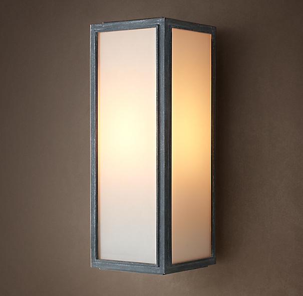 Union Filament Narrow Sconce Milk Glass