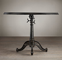 "40"" 18th C. French Tilt-Top Brasserie Table"
