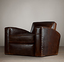 Library Leather Swivel Chair