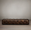 Soho Tufted Leather Coffee Ottoman