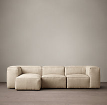 Fulham Upholstered Left-Arm Sofa Chaise