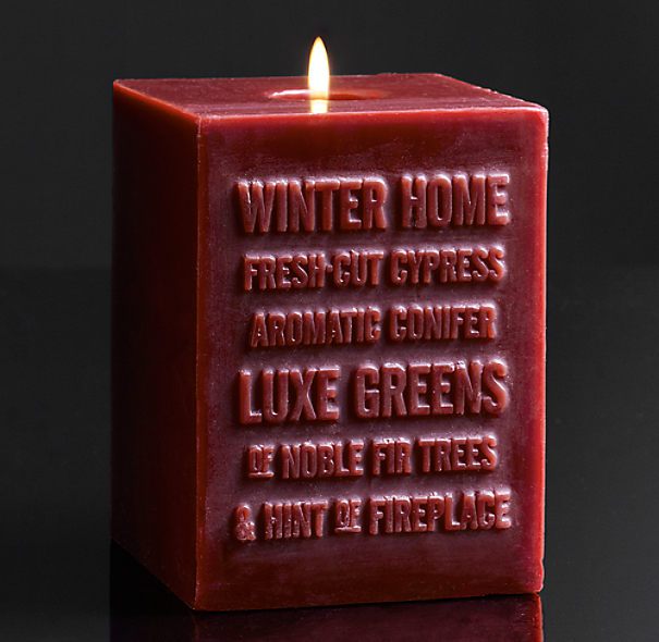Winter Home Pillar Candle