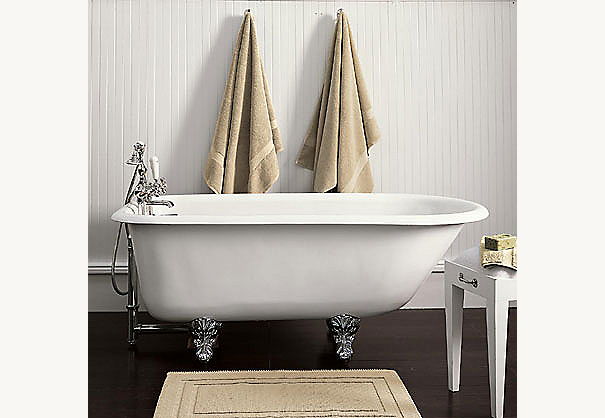 Classic Victorian Clawfoot Tub and Tub Fill with Handheld Shower (shown)
