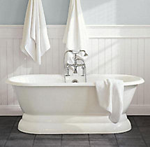 Palais Pedestal Soaking Tub and Tub Fill with Handheld Shower