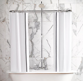 Metal Pipe Curtain Rod JCPenney Shower Curtai