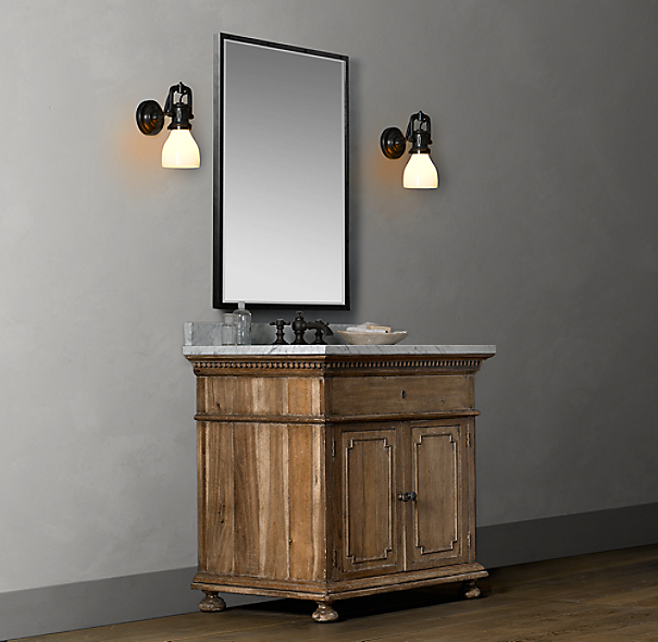 St. James Single Vanity Sink Base