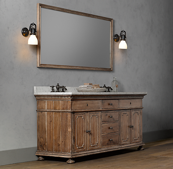 St. James Double Vanity Sink Base