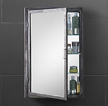 Pharmacy Wall Mount Medicine Cabinet Burnished Steel