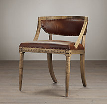 Swedish Demi-Lune Chair Leather