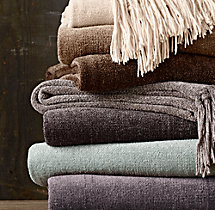 Chenille Throws - Solid