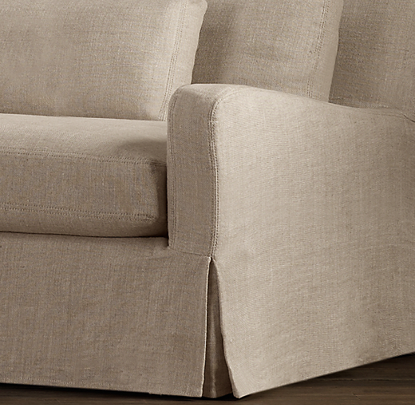 Belgian Slope Arm Slipcovers