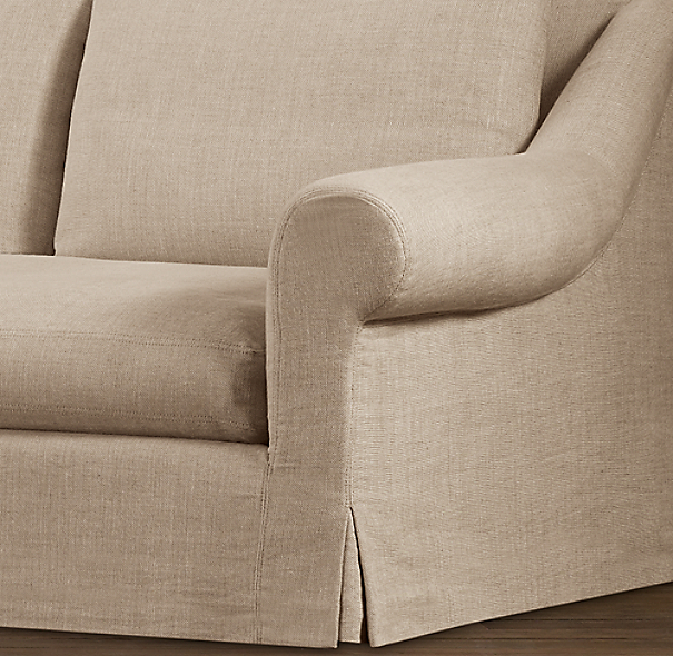 Belgian Roll Arm Slipcovers