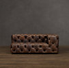 Soho Tufted Leather Right-Arm Sofa