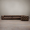 Soho Tufted Leather Build Your Own Sectional