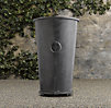 Estate Zinc Ring Round Tall Planter