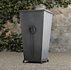 Estate Zinc Ring Square Tall Planter
