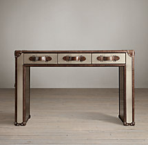 "49"" Mayfair Stainless Steel Trunk Desk"