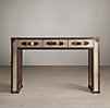 "Mayfair Stainless Steel 49"" Trunk Desk"