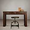 "49"" Mayfair Vintage Cigar Leather Desk"