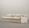 8' Belgian Slope Arm Slipcovered Two Cushion Sofa
